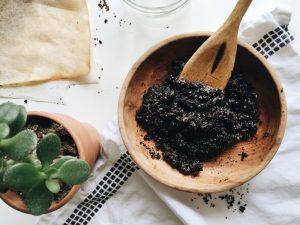 gommage peau café